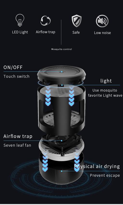 Photocatalyst Electronic Mosquito Killer LED Photocatalyst Electric Bug Zapper