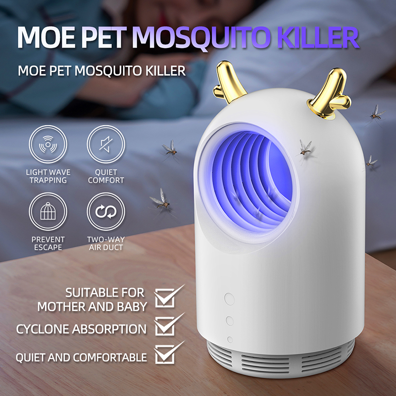 2020 New Indoor USB Electronic Insect Pest Zapper Insect Repeller Mosquito Killer Lamp