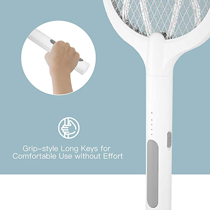 2 in 1 Large Electric Mosquito Swatter Bug Zapper Mosquito Lamp Fly Killer Insect Racket