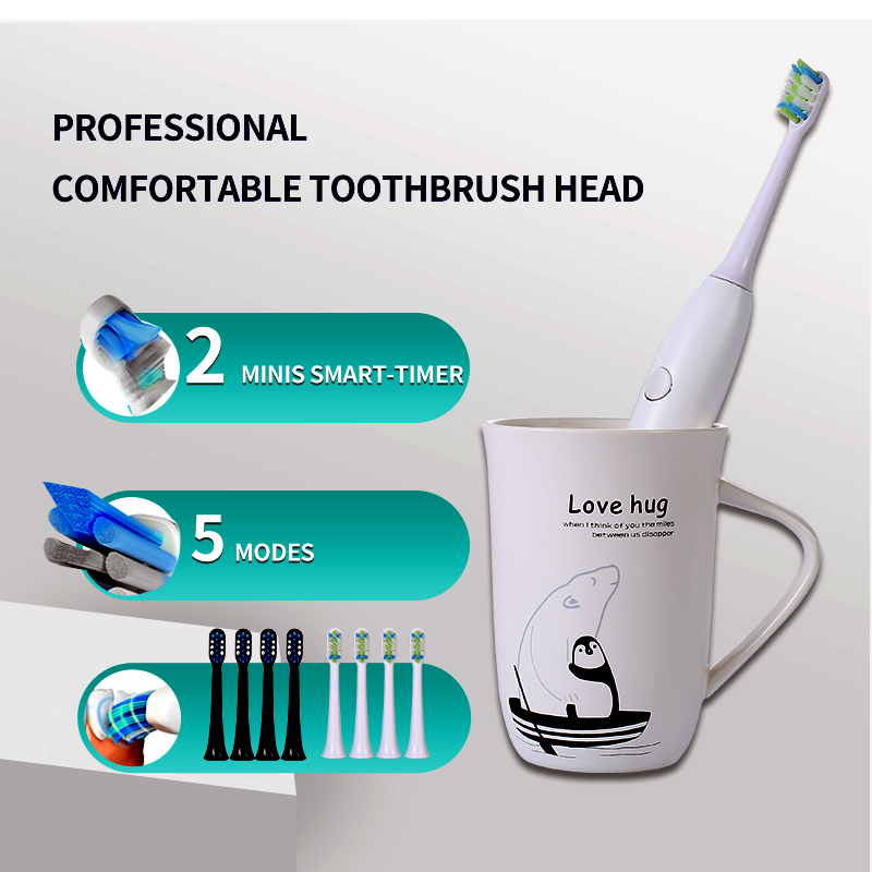 Power Electric Toothbrush Rechargeable for Adults with Timer Care Your Teeth