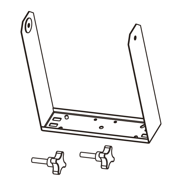 Vertical bracket for EX10