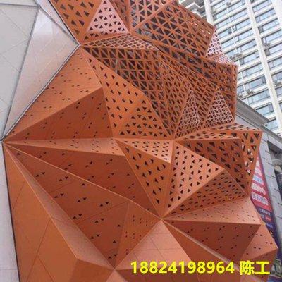 广东十大排名异形铝单板冲孔幕墙
