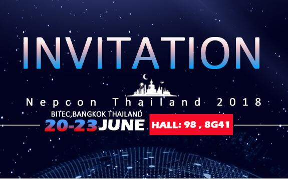 Join us at Nepcon Thailand! June 20~23rd,2018