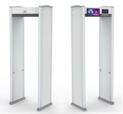 Thermal Walk Through Metal Temperature Detector with 2 Screens Theraml Face Capture