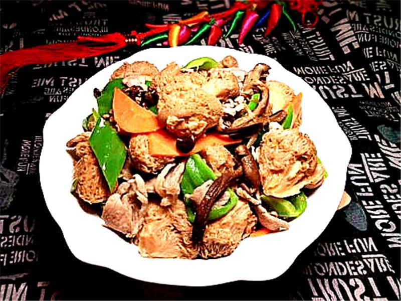 猴头菇炒肉