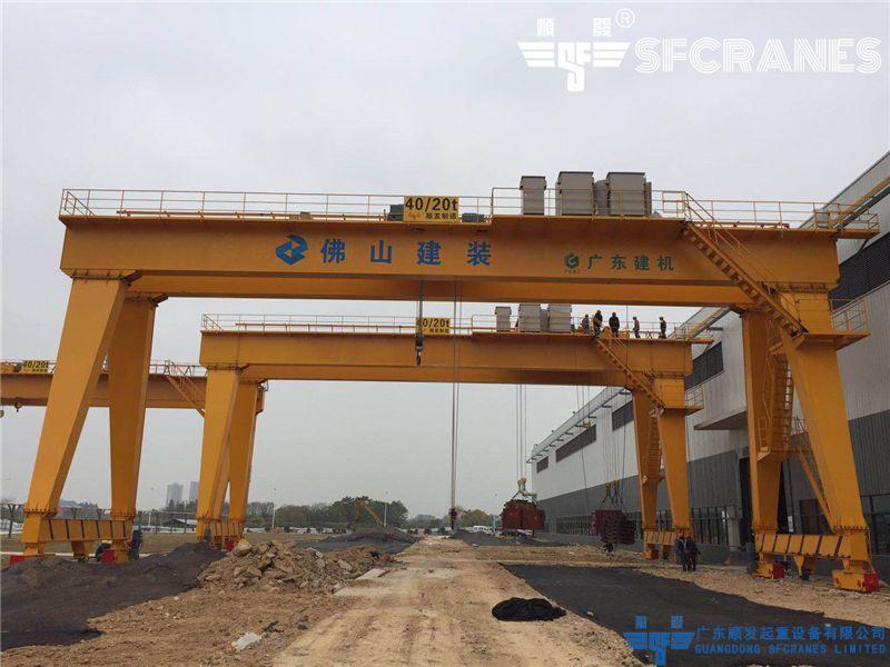 佛山綠色建筑科技產業園-MG型雙梁龍門吊