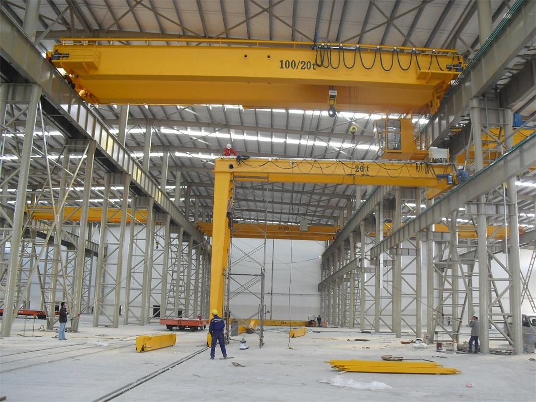 中国建筑集团-QD型通用桥式天车+MHB型半门式起重机