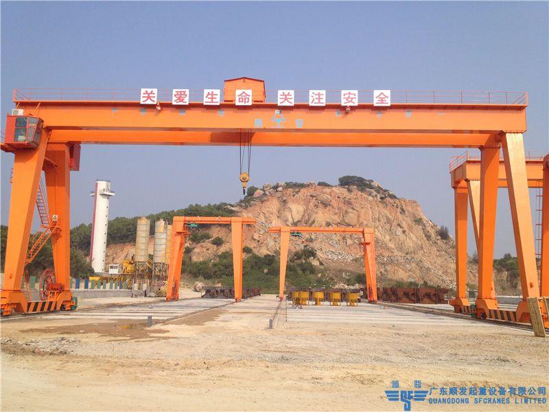 广州打捞局汕头疏浚项目-MG型双梁龙门吊+MH型单梁龙门吊