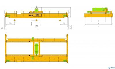 3t/3吨葫芦双梁起重机(3吨双梁天车、3吨双梁行车、3吨双梁行吊)