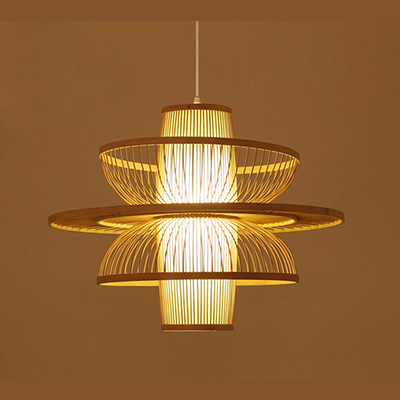 Modern Neutral Bamboo Pendant Lamp MD-Z007JR