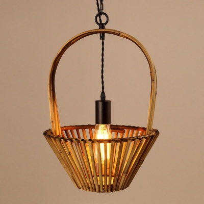Retro handmade rattan bamboo lamp shade pendant lamp MD-Z019JR-A