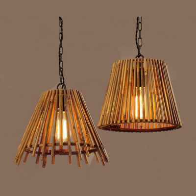 Natural bamboo pendant lamp MD-Z019JR-G