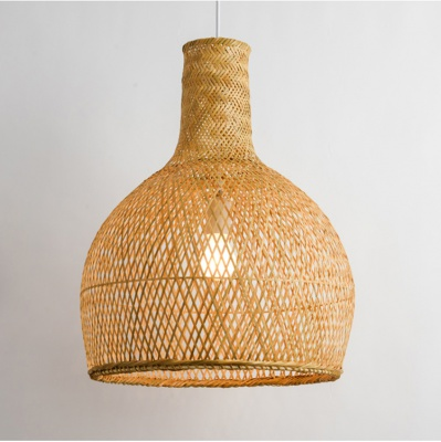Round natural bamboo pendant lamp MD-2Z023
