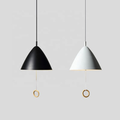 LED black chandelier wire pendant lamp cone pendant light for hotel