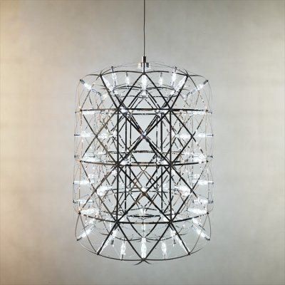 Modern Stainless Steel Circle Pendant Lights LED Firework style