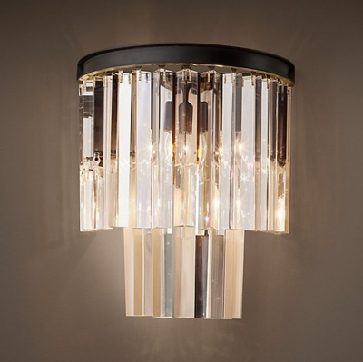 modern luxury lamp design K9 crystal wall light creative decoration customize size
