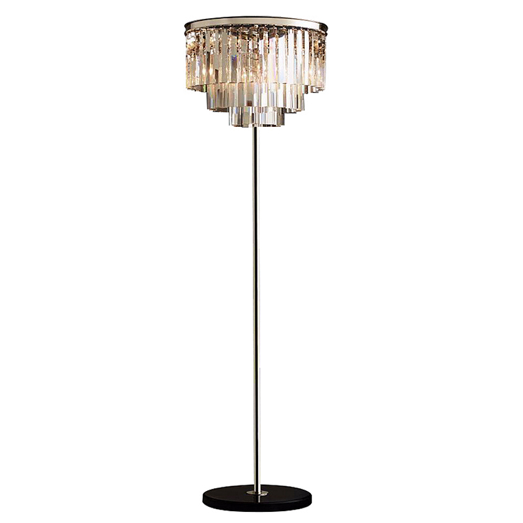 Iron Villa modern luxury k9 crystal floor light