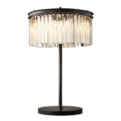 american stylish bed side modern home decor K9 crystal table lamp