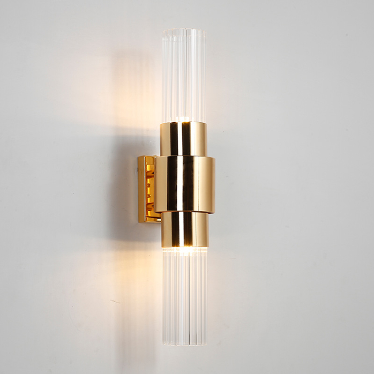 Nordic Design Gold Metal Sconce Lamp Modern LED Wall Light For Hallway