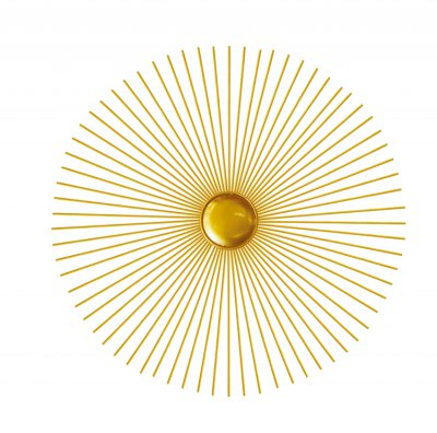 2019 new round modern wall lamp indoor golden led classic wall mount light