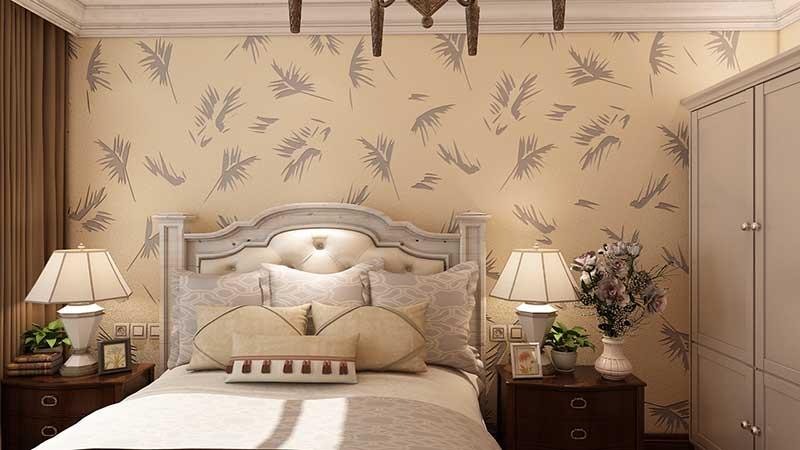贝壳粉卧室墙面图片