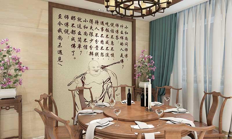 贝壳粉餐厅墙面