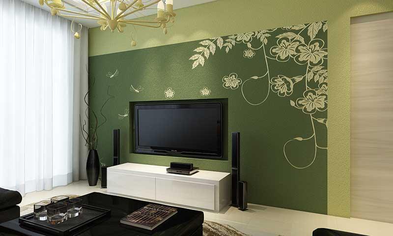 贝壳粉电视背景墙效果图