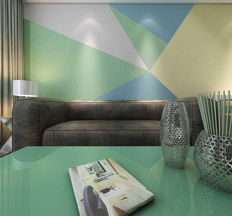 贝壳粉现代背景墙