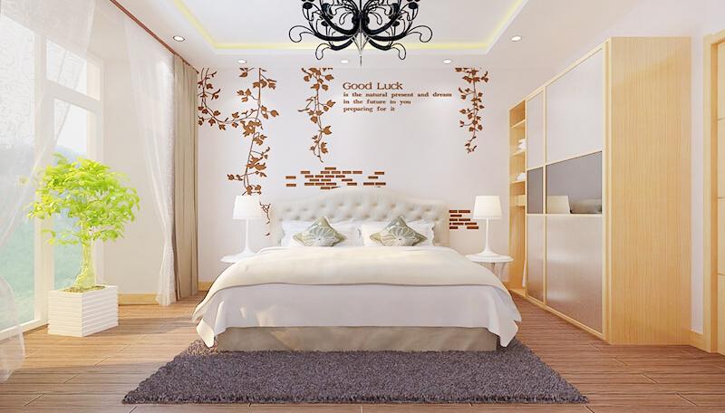 这是贝壳粉卧室装修效果图