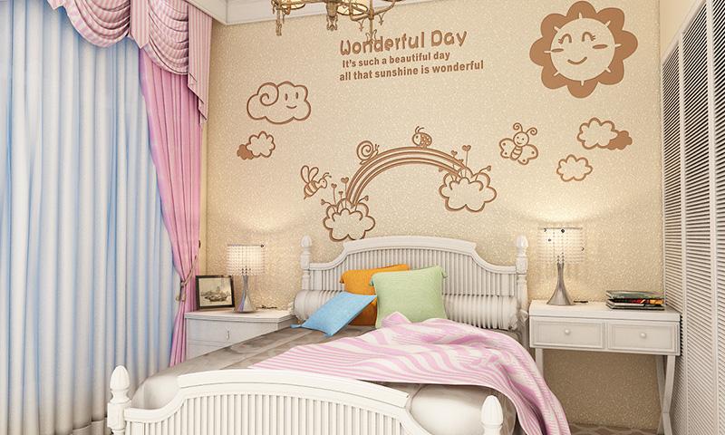 这是贝壳粉儿童房图案