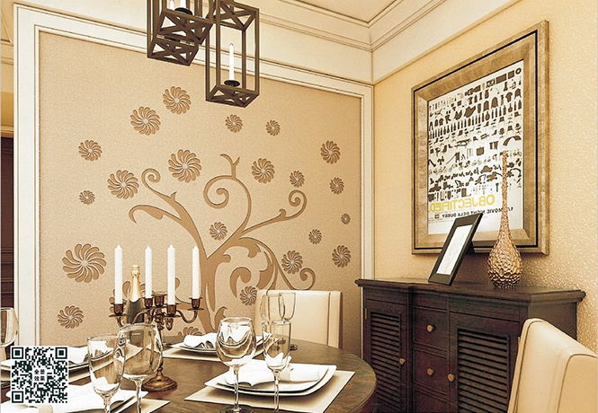 贝壳粉北欧风格餐厅图片