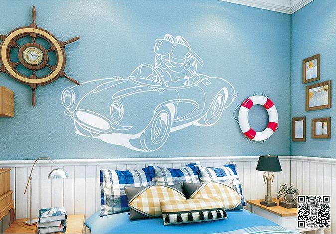 贝壳粉儿童房图片