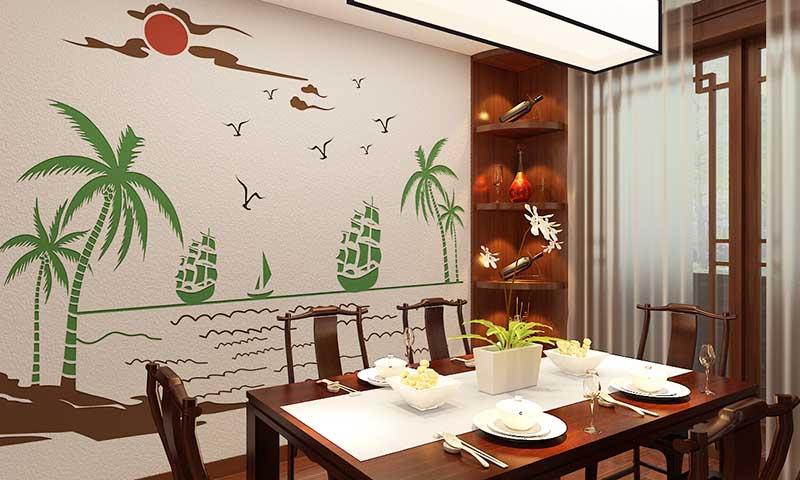 贝壳粉餐厅效果图10