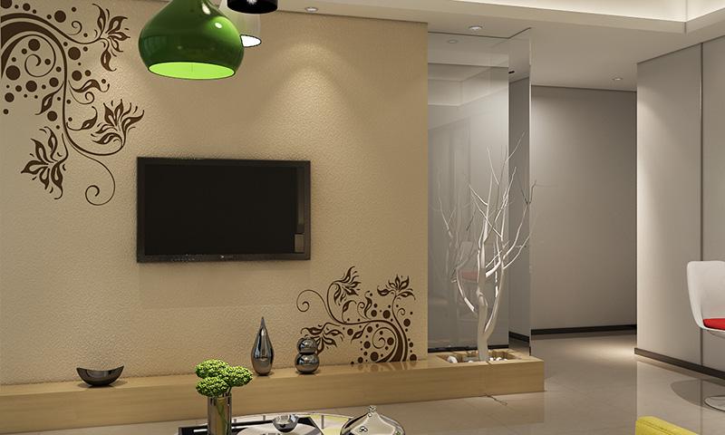 贝壳粉电视背景墙18