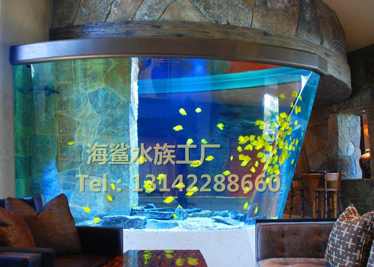 海鲨水族工厂介绍大型鱼缸工程中沉木形态的选择