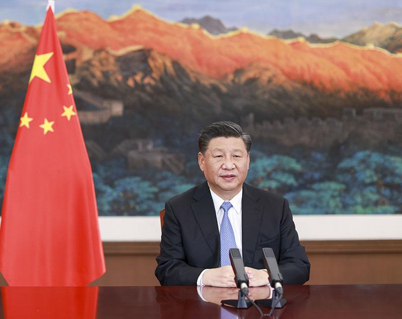 习近平在二十国集团领导人利雅得峰...