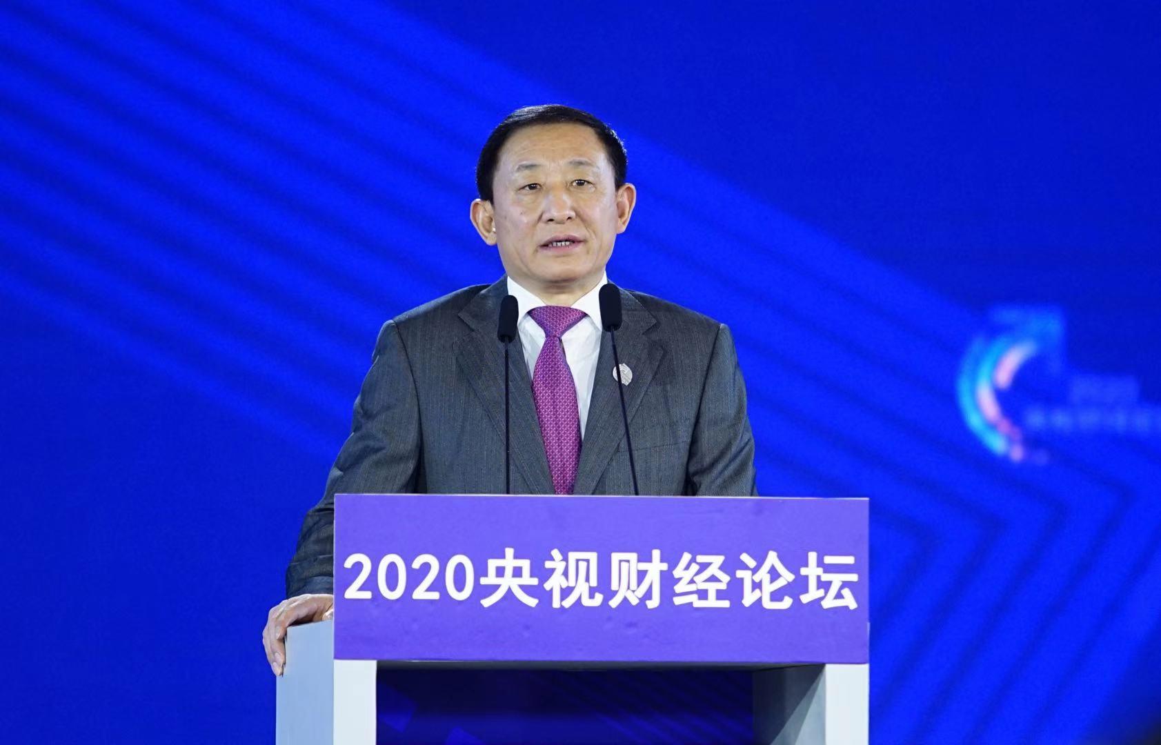 彭华岗出席2020央视财经论坛