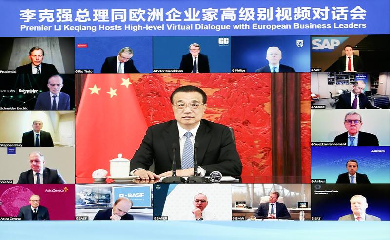 李克强:中国的宏观政策制定实施直...
