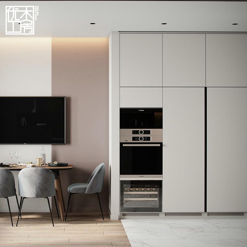 优木工房/全屋定制衣柜整体家装一柜到顶进口爱格板材地中海风格