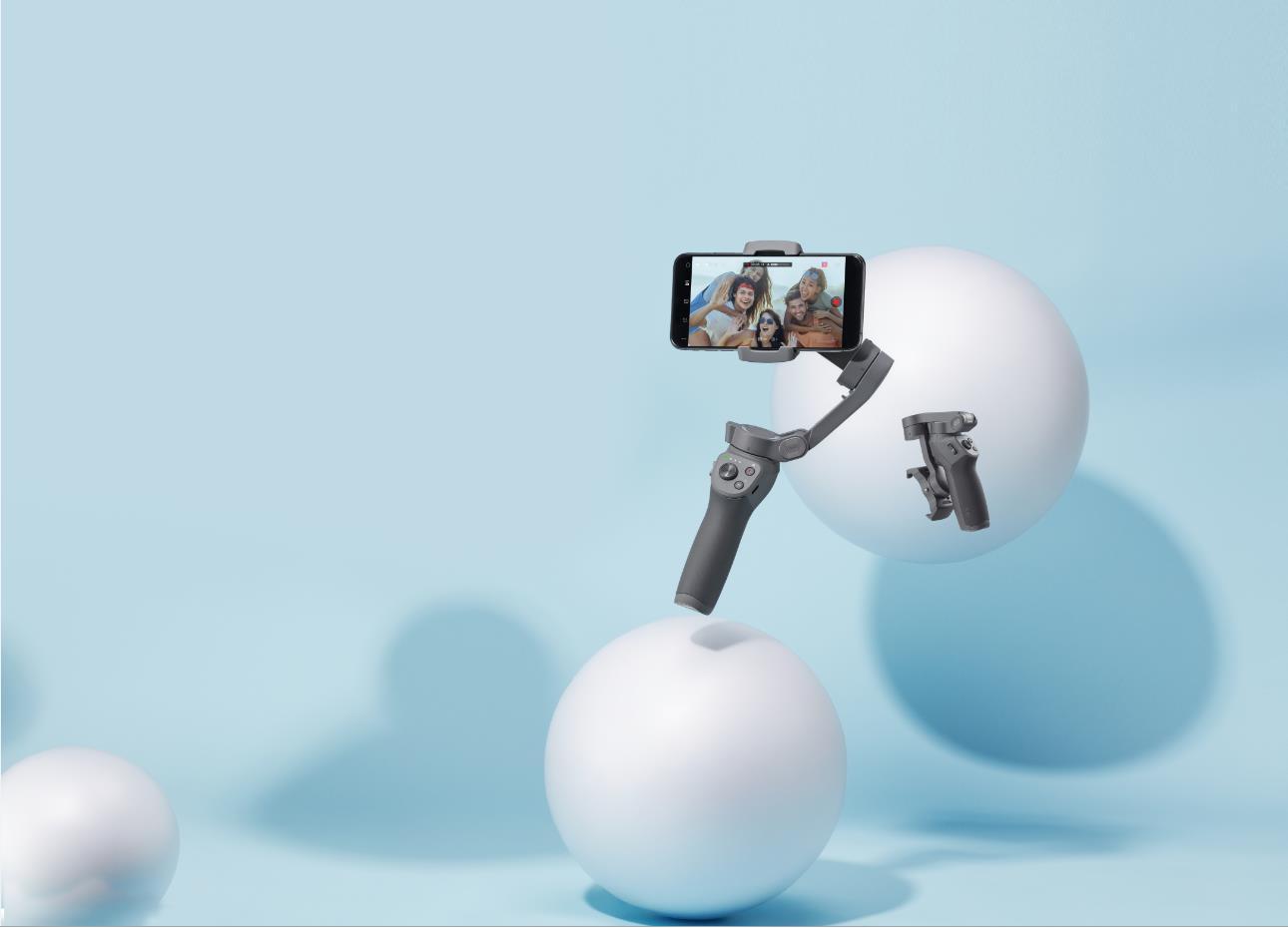 DJI 大疆 Osmo Mobile 灵眸手机云台 3 防抖可折叠手机稳定器