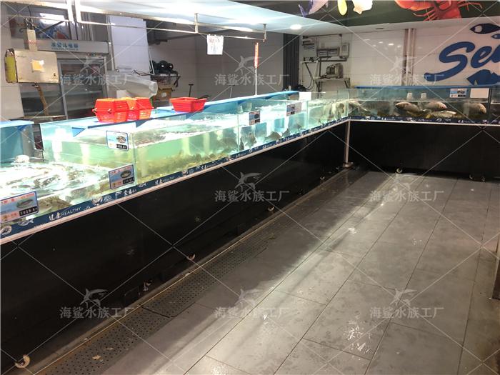长沙连锁超市海鲜鱼缸,海鲜池+贝类池+虾缸
