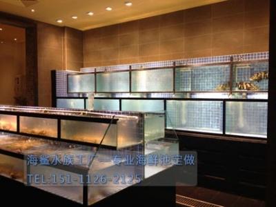 岳阳酒店厨房商用海鲜鱼池定做 ***海鲨水族工厂