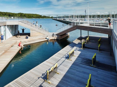 Floating sports platform