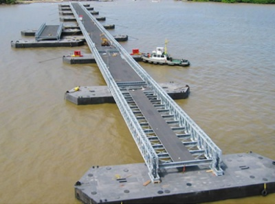 Quick assemble Floating bridge