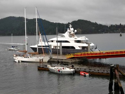 Landing pontoon system