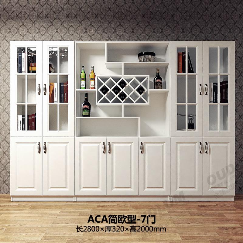 欧式酒柜装饰柜子定制客厅餐边柜储物柜现代简约多功能红酒餐厅柜