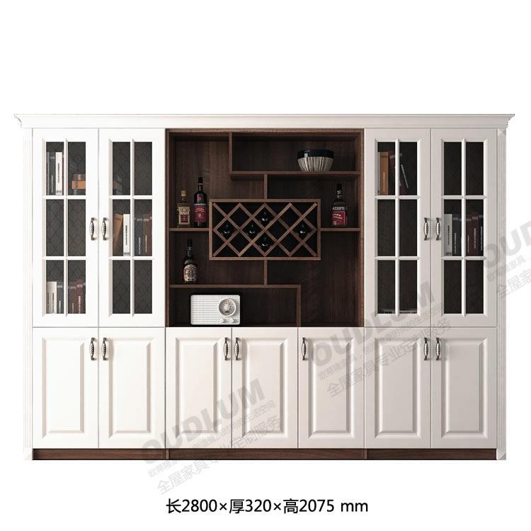 客厅装饰玄关酒柜 餐厅酒柜餐边柜 撞色系