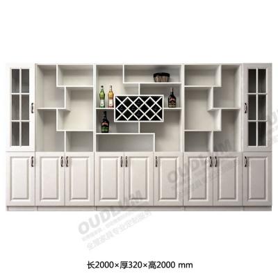客厅装饰玄关酒柜 餐厅餐边柜 对开门9门酒柜