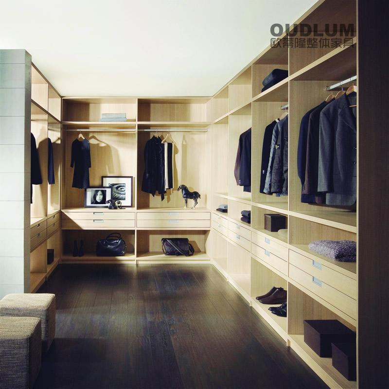 现代风格 步入式 敞开式 整体衣柜 衣帽间 YMG1902