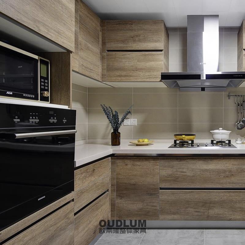 CG12009 整体厨房木饰面C拉手橱柜 欧蒂隆.OUDLUM 全屋定制